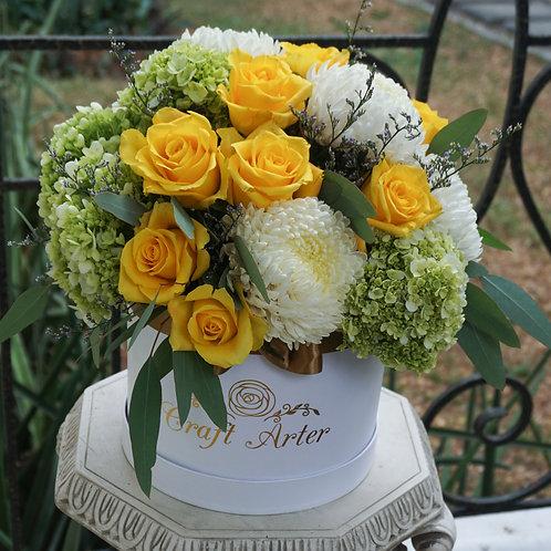 Bright Yellow Hatbox
