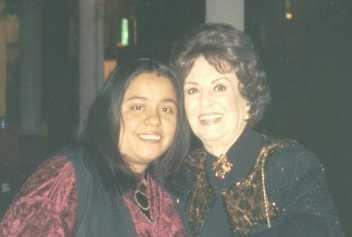 Con Doña Marga López 2003