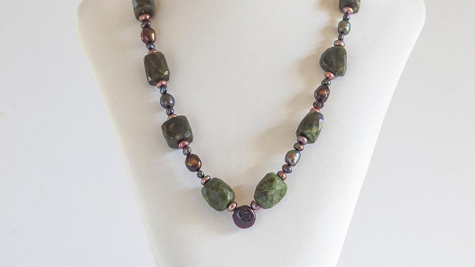Gemstone & Fresh Water Pearl Necklace
