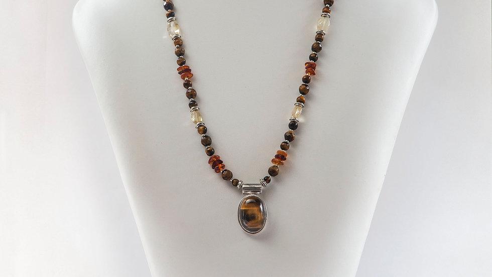 Tiger Eye & Citrine Necklace