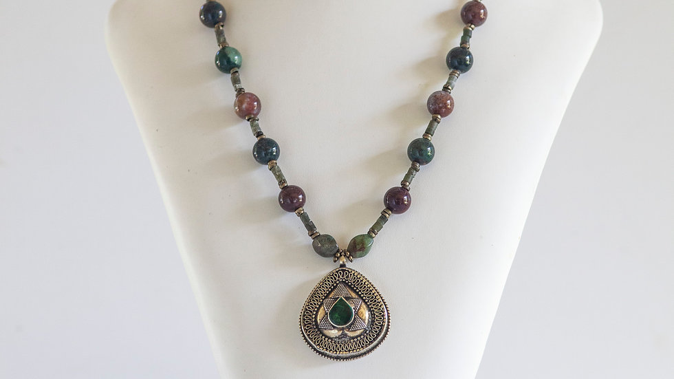 Tribal Green Pendant