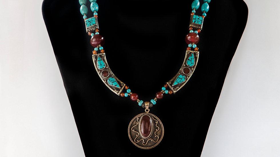 Agate Bronze Pendant