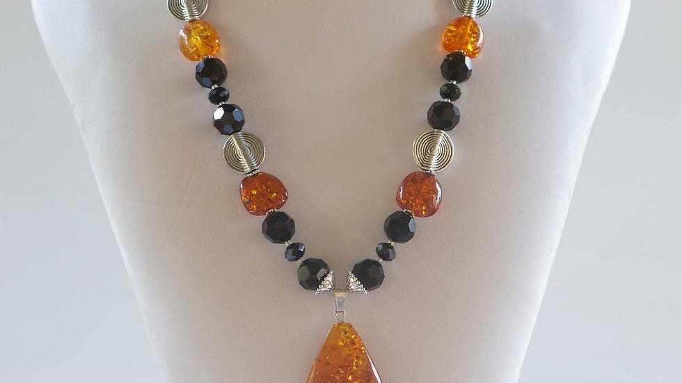 Chinese Amber Pendant