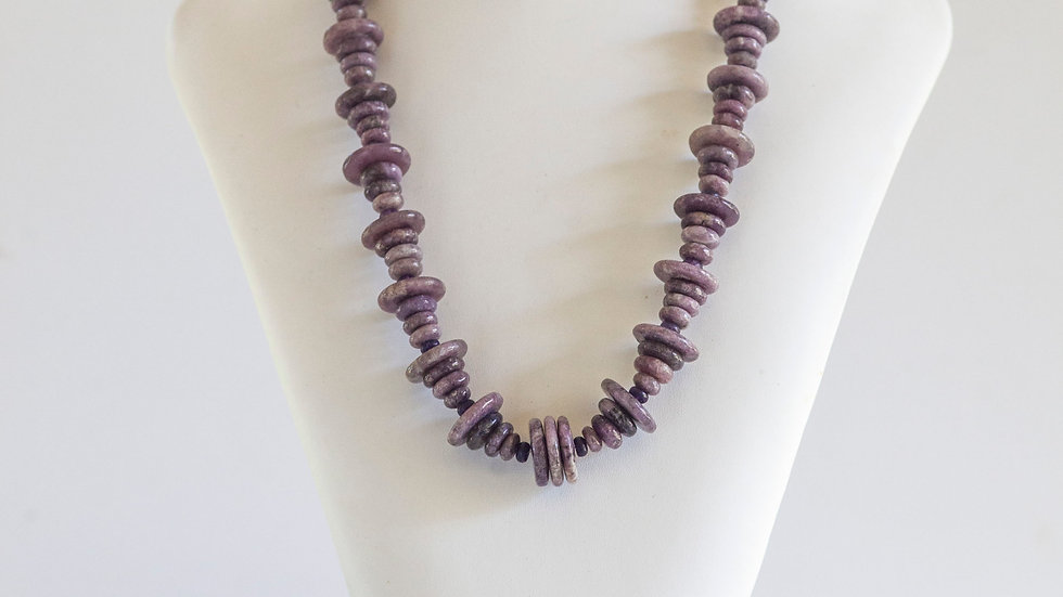 Lepidolite & Fluorite Necklace