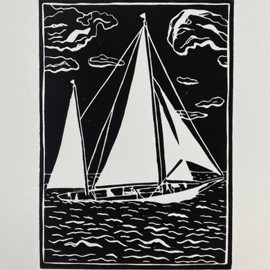 """Sailing Boats Series"" - Sailing in a storm"