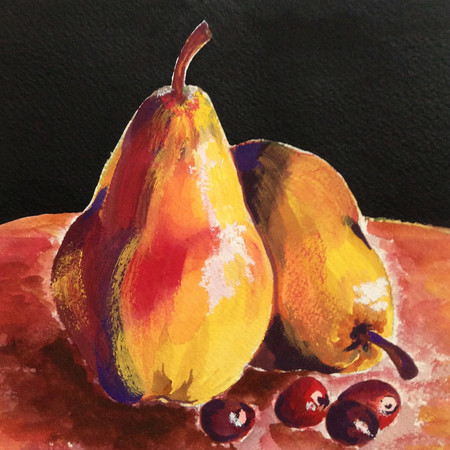 Pear On Table