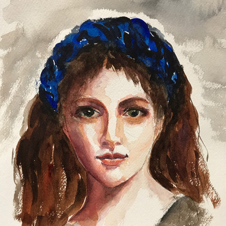 Young Girl with a blue headband