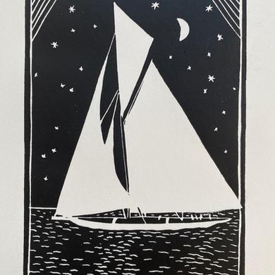 """""""Sailing Boats Series"""" - Sailing by Night"""