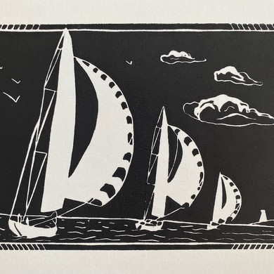 """""""Sailing Boats Series"""" - Racing with Spinnakers"""