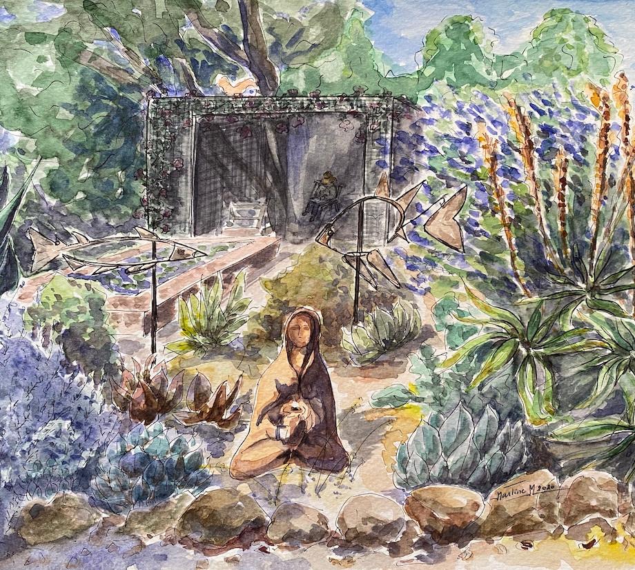 At garden in Soquel