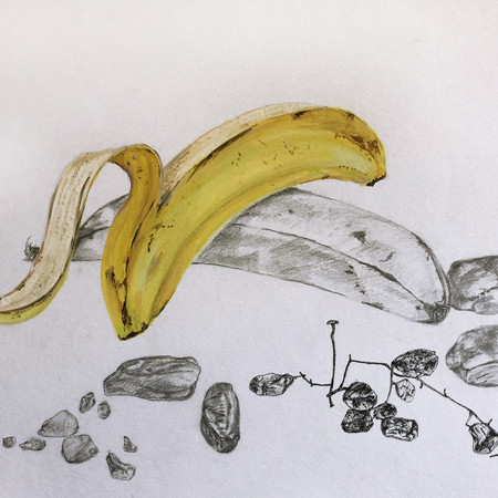 Banana, Dates and Raisins