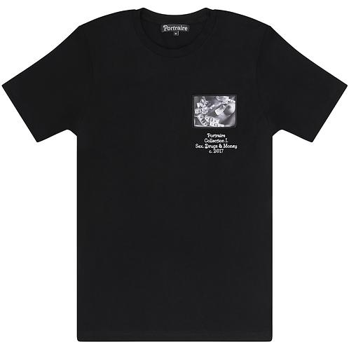Black T-shirt - Girl & Money Patch