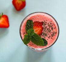 Milkshake de morango