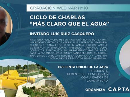 """Ciclo Charlas """"Más Claro que el Agua"""" Nº10: Invitado Luis Ruiz Casquero, Socio de TEMEC"""