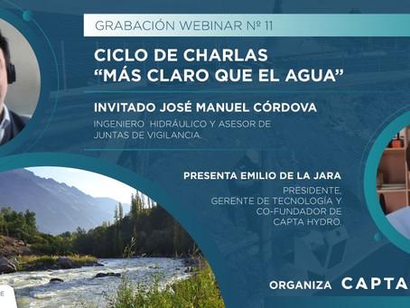 """Ciclo de Charlas """"Más Claro que el Agua"""" Nº11: con José Manuel Córdova, Ingeniero y Asesor de JVs"""