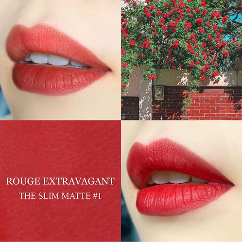 YSL ROUGE PUR COUTURE THE SLIM #1 絕色時尚啞緻唇膏 #1