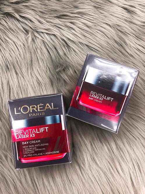L'OREAL REVITALIFT LASER X3 NEW SKIN ANTI-AGING DAY CREAM  活力緊緻光學嫩膚活肌修護日霜