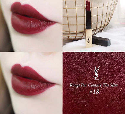 YSL ROUGE PUR COUTURE THE SLIM #18 絕色時尚啞緻唇膏 #18