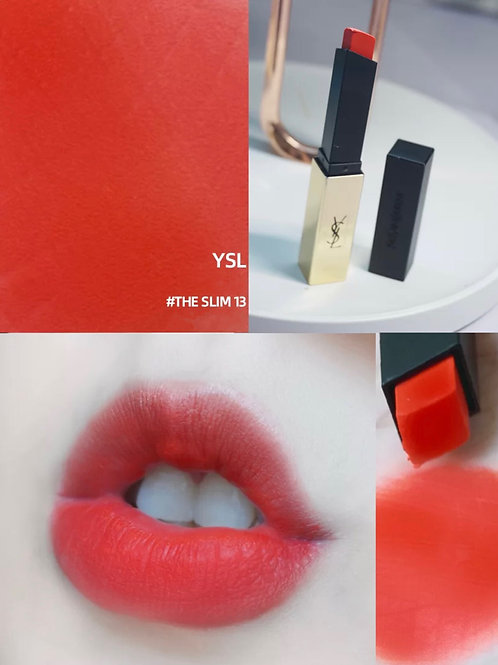 YSL ROUGE PUR COUTURE THE SLIM #13 絕色時尚啞緻唇膏 #13