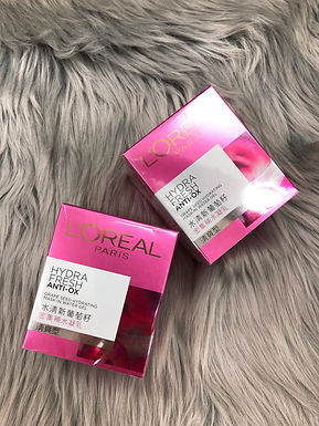 L'OREAL HYDRAFRESH ANTI-OX GRAPE SEED HYDRATING MASK-IN WATER GEL 水清新葡萄籽密集補水凝乳