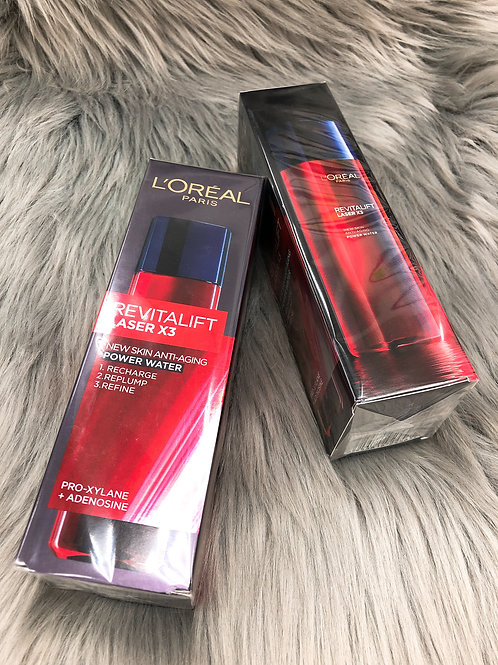 L'OREAL REVITALIFT LASER X3 NEW SKIN ANTI-AGING POWER WATER  活力緊緻光學嫩膚活肌修護高效精華水
