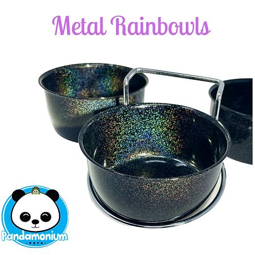 Metal Rainbow Bowls