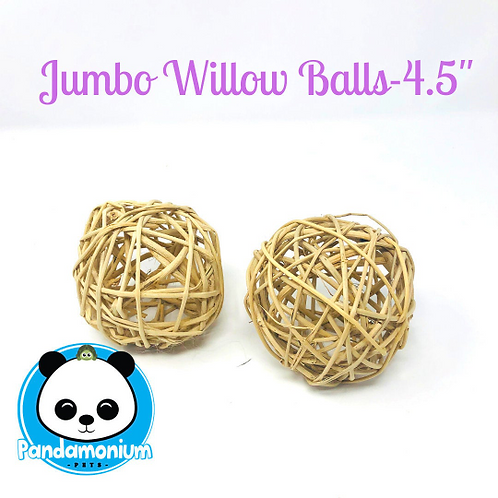 "Jumbo 4.5"" Willow Balls- Chew toys for Chinchillas, rats, rabbits, degus, hamste"