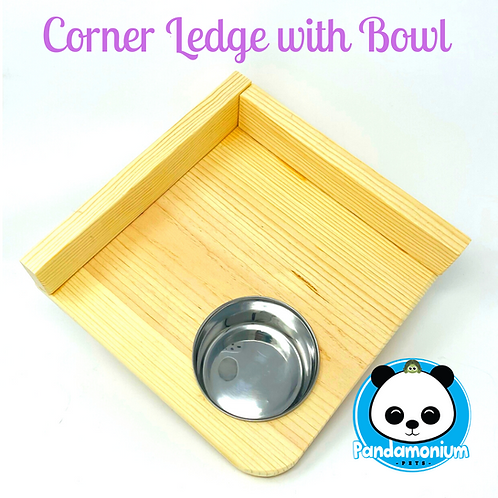 Corner ledge with bowl