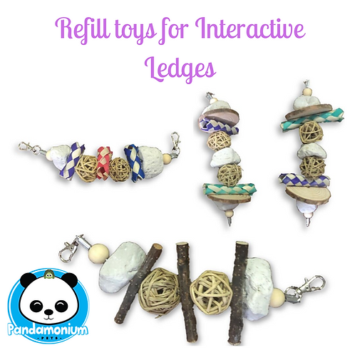 Refill Toys for Interactive Ledges