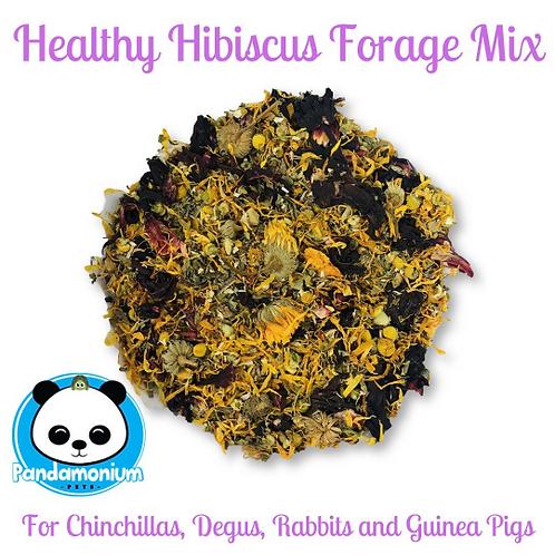Healthy Hibiscus Forage Mix- w/ Dandelion, Chamomile and Calendula-Chinchillas,