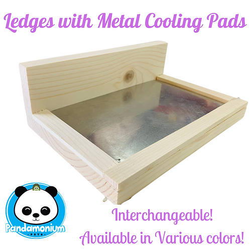 Ledges with Metal Cooling Pads