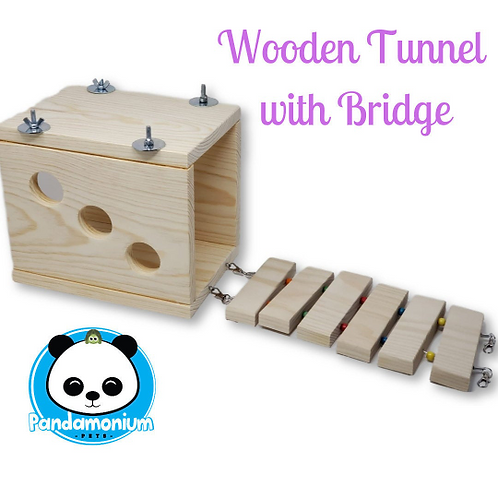 Wooden Tunnel with Bridge