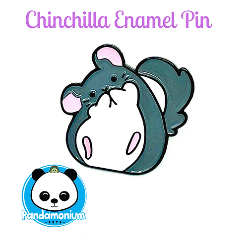 Chinchilla Enamel Pin