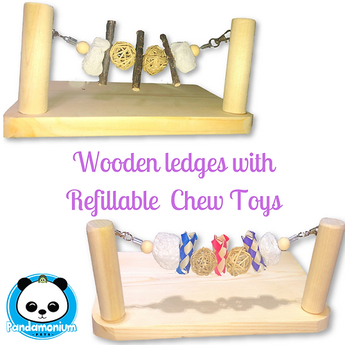 Wooden Ledges with Refillable Toys