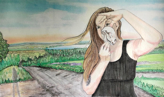 """Backroad Priestess   Last Image in the """"Song For Sean; A Grief Journey"""" Exhibit"""