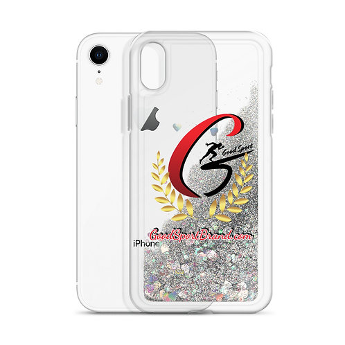 Good Sport Crest Liquid Glitter Phone Case