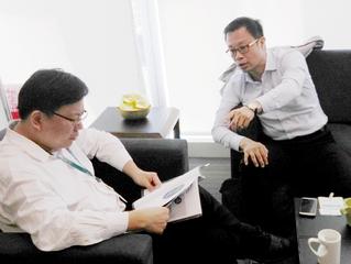 拜訪中國信託執行長劉奕成──好命退休專案會議