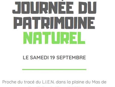 Mise en valeur de notre patrimoine naturel, le 19 septembre 2020 - 15h à 20h.
