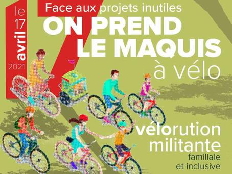 """""""Vélorution"""" au Nord de Montpellier, Avril 2021"""