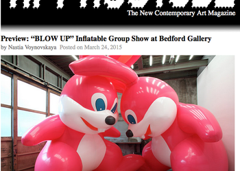 "Preview: ""BLOW UP"" Inflatable Group Show at Bedford Gallery"