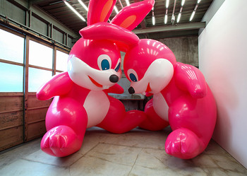 Huge inflatable art takes over Elmhurst Art Museum