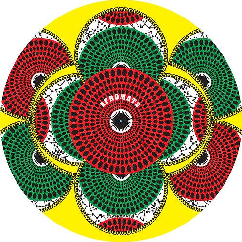 "12"" vinyl record slipmat KALABASH (Yellow)"