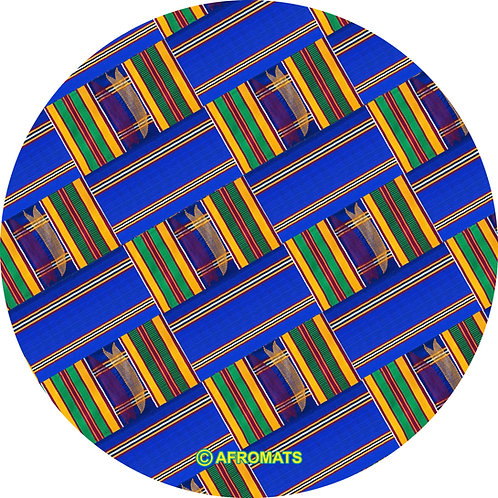 "12"" vinyl record slipmat ROYAL BLUE KENTE"