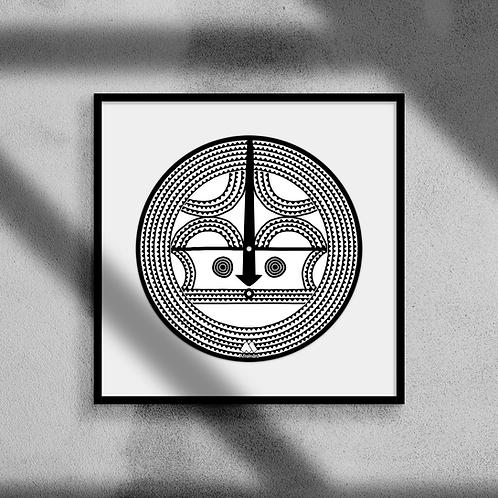 Sun Mask #1 - Framed