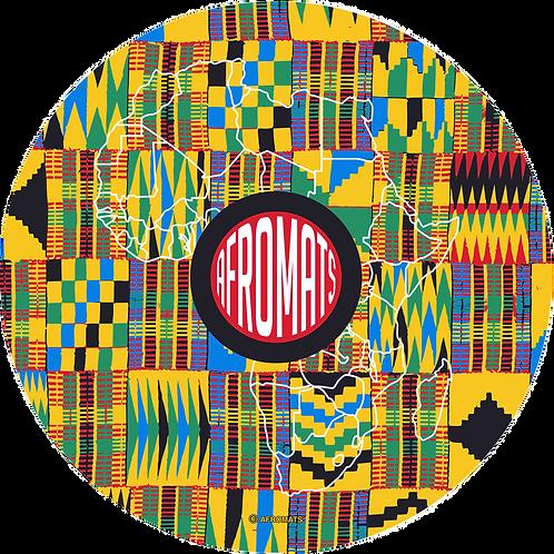 "12"" vinyl record slipmat KENTE"