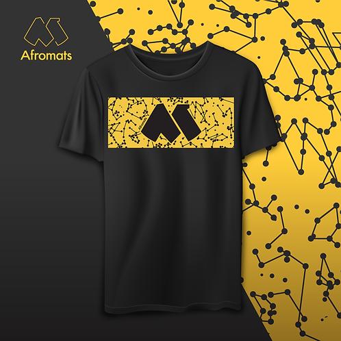 Afromats Cotton T Shirt, yellow & black