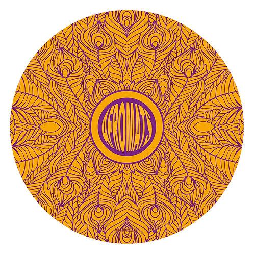 "12"" vinyl record slipmat FEATHERS orange"