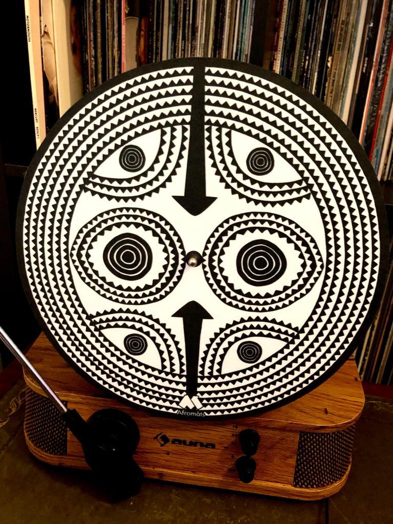 Sun Mask slipmat art for your turntables