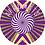 "Thumbnail: 12"" vinyl record slipmat Kaleidoscope purple"