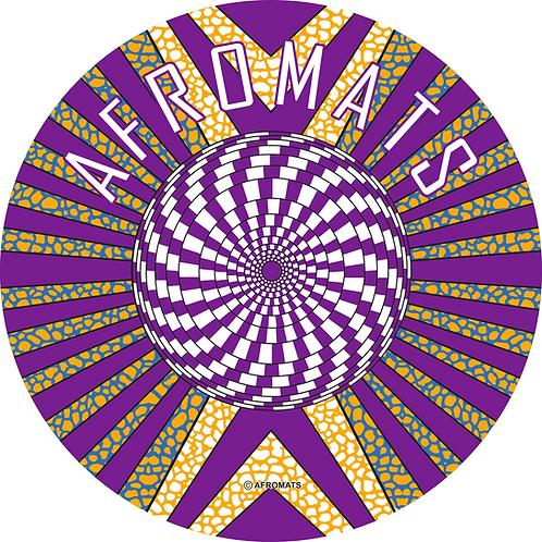 "12"" vinyl record slipmat Kaleidoscope purple"